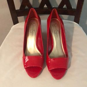 Jessica Simpson Red Wedge